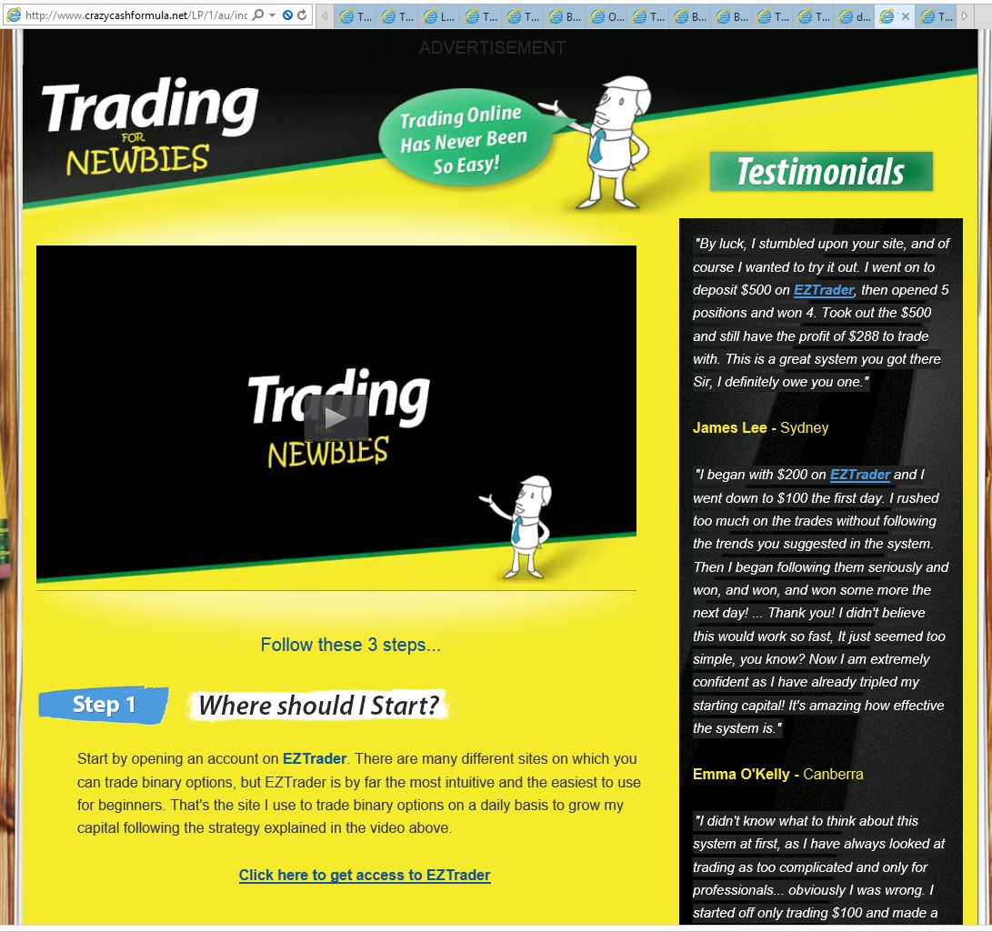 Eztrader option trading
