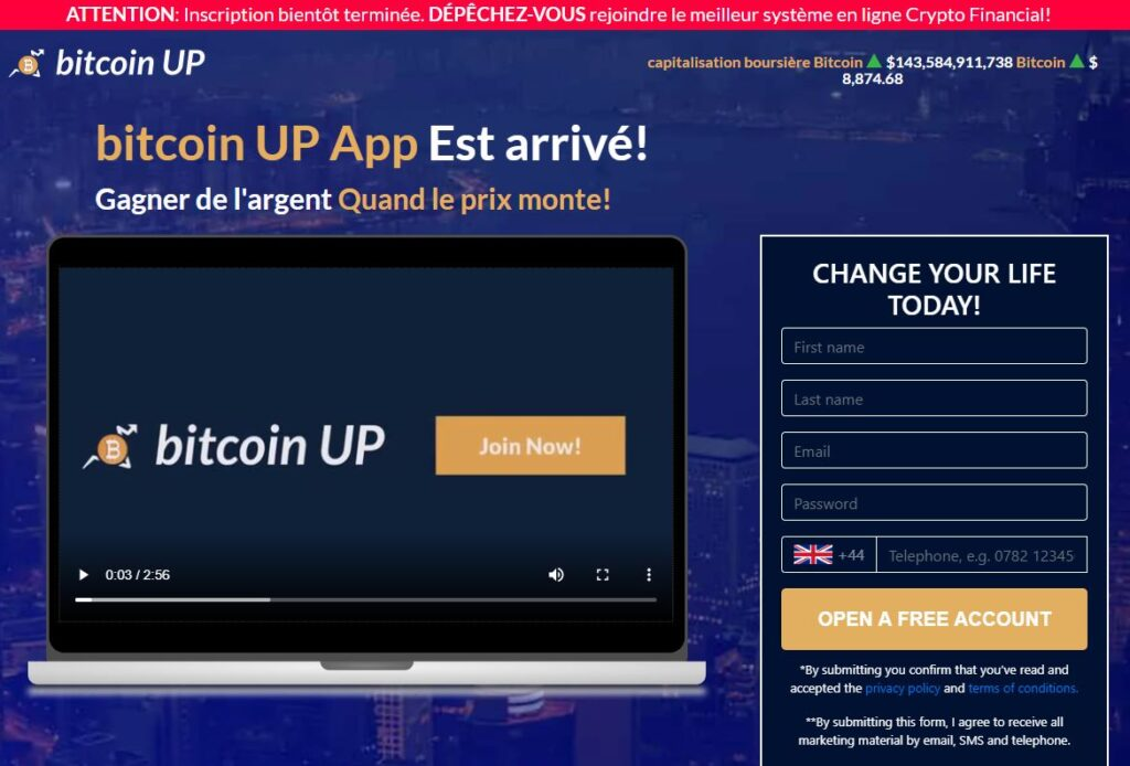 Avis sur Bitcoin Up